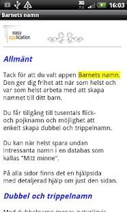 Barnnamn- screenshot thumbnail