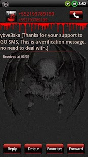 Vampire GO SMS Theme- screenshot thumbnail