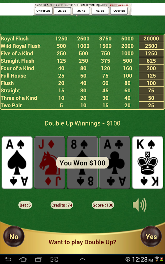 Double Joker Poker- screenshot