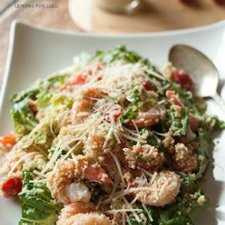 Caesar Salad Recipe with Shrimp & Quinoa