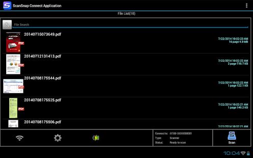 ScanSnap Connect Application. - screenshot thumbnail