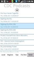 Screenshot of Flu Tracker