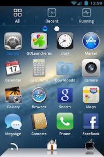 Go Launcher EX Mac OS X- screenshot thumbnail