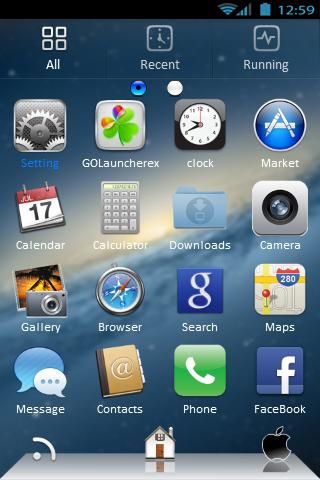 Go Launcher EX Mac OS X- screenshot