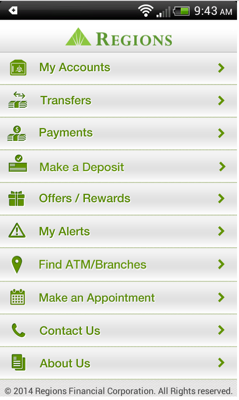Regions Bank Android 5