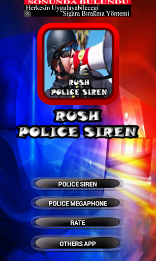 Rush Police Siren Sounds
