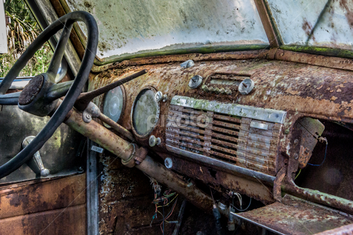 Rusty 53 Chevy Truck Interior By Robert Willson   Transportation  Automobiles ( Rusty Truck, Interior