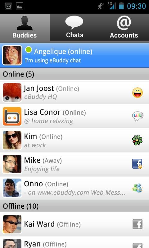 Download eBuddy Messenger for android devices free