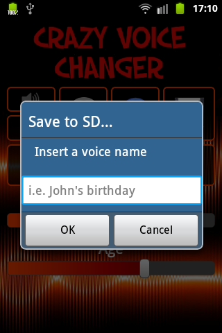 Voice Changer (Crazy) PRO - screenshot