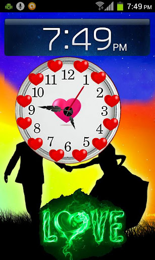 Love Clock Live Wallpaper