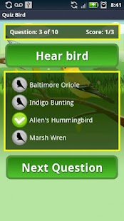 Quiz Bird Free - screenshot thumbnail