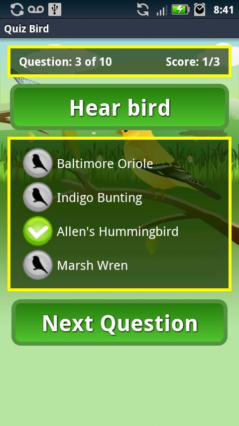 Quiz Bird Free - screenshot