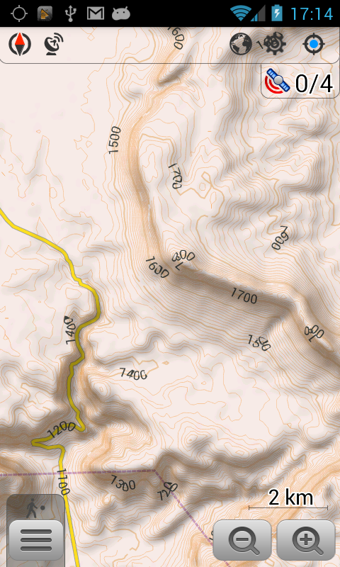 OsmAnd Contour lines plugin - screenshot