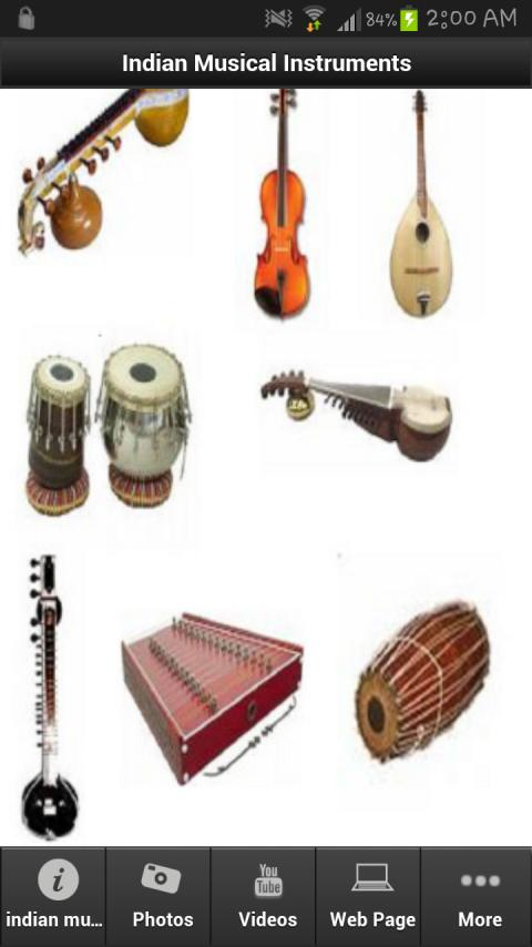 Indian Musical Instruments - screenshot