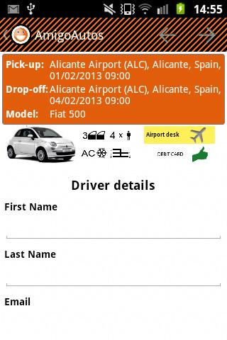 AmigoAutos Car Hire - screenshot