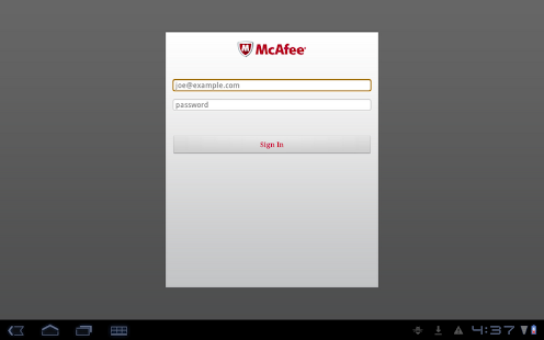 McAfee EMM - screenshot thumbnail