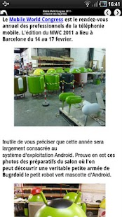 Application Android France - screenshot thumbnail