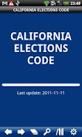 Screenshot of California Elections Code