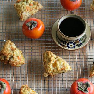 Persimmon Hazelnut Scones.