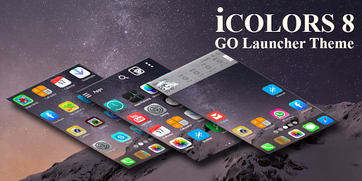icolours 8 Go Launcher Theme