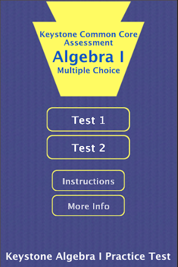Keystone Alg I Practice Tests- screenshot