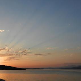 Sunset on the Adriatic Sea by Nat Bolfan-Stosic - Landscapes Sunsets & Sunrises ( sky, see, waves, sunset, tender,  )