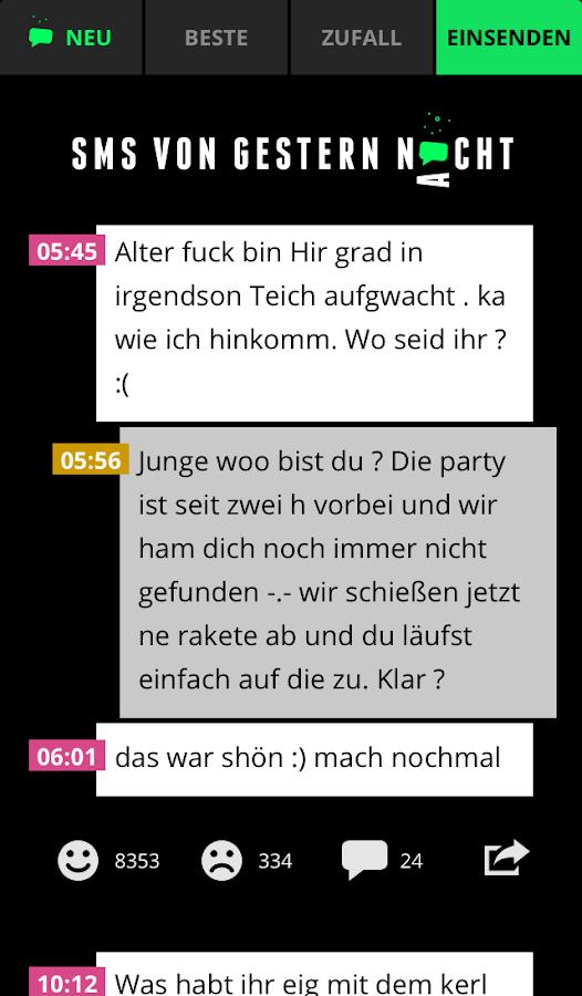 SMS VON GESTERN NACHT - screenshot