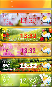 Spring Weather Clock Widget screenshot 2