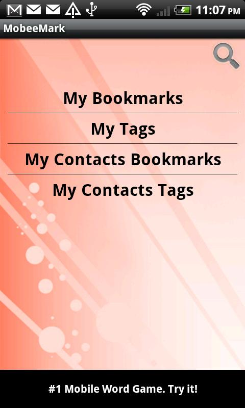 Mobile Bookmarks - screenshot