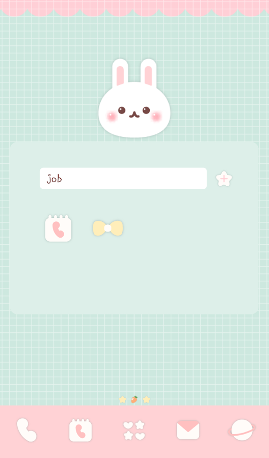 mint rabbit dodol theme- screenshot