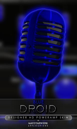 Poweramp skin blue droid