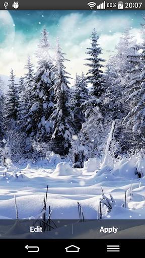 겨울 눈 라이브 배경 화면