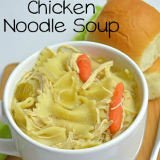 Slow Cooker Homemade Chicken Noodle Soup.