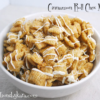 Cinnamon Roll Chex Mix.