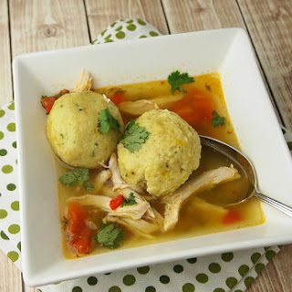 Saffron Matzo Ball Soup With Sofrito