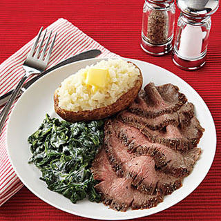 Pepper-Crusted Flank Steak.