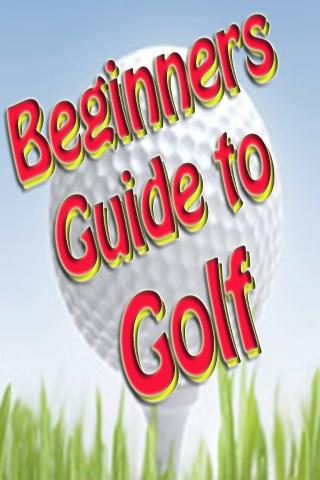 Beginners Guide To Golf Ebook