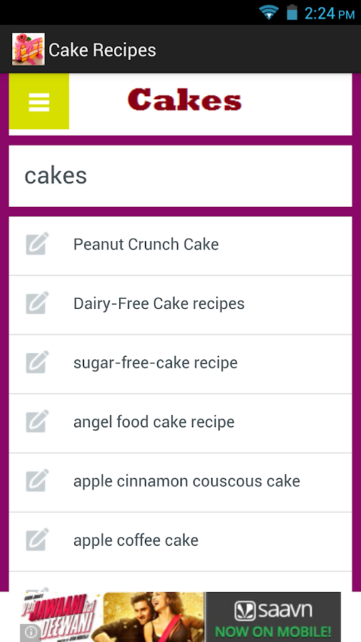 Cake Recipes App- screenshot