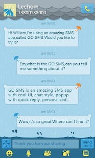 GO SMS Pro Rainy day Theme - screenshot thumbnail