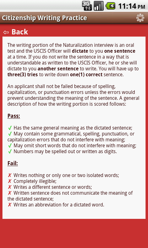us citizenship writing test There are various ways a person can acquire united states citizenship a reading test, a writing test and a civics test for the civics test.