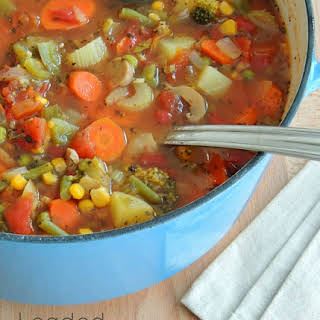 Loaded Vegetable Soup.