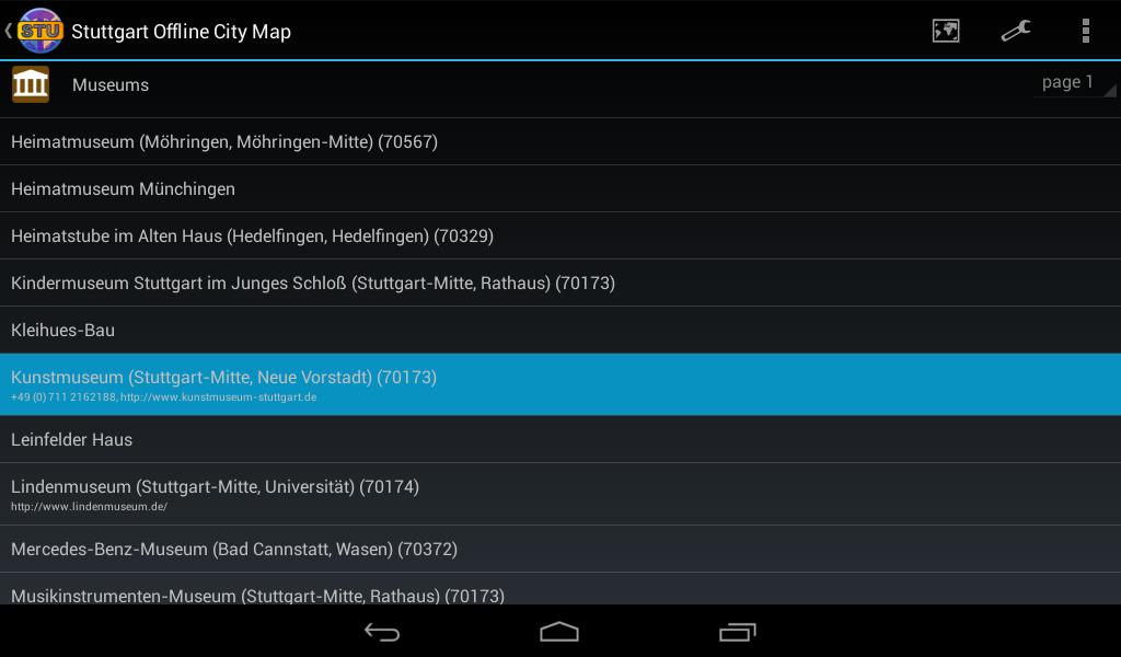 Stuttgart Offline City Map- screenshot