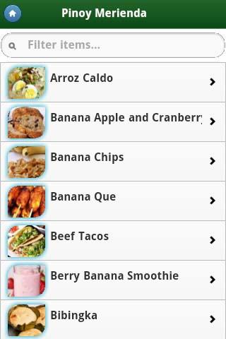Pinoy Food Recipes - screenshot