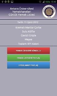 Ankara Üniversitesi Yemekhane- screenshot thumbnail