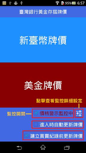 台灣黃金價格 存摺牌價 -價格警示