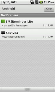 SMS Reminder Lite - screenshot thumbnail