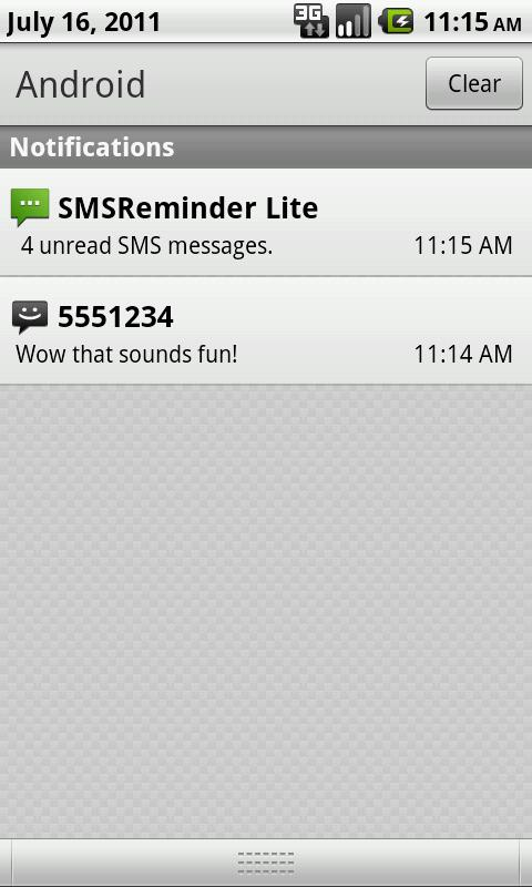 SMS Reminder Lite - screenshot