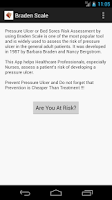 Screenshot of Braden Scale 4 Pressure Ulcer