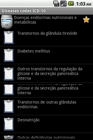 ICD-10 (for Android 2)- screenshot
