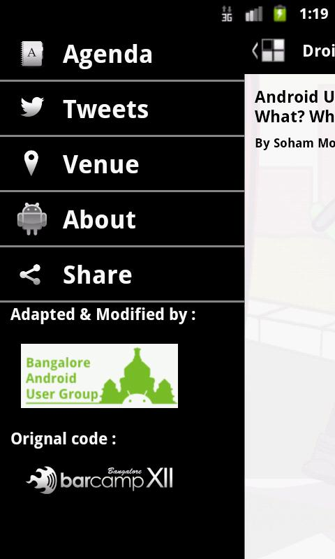 Droidcon India - screenshot